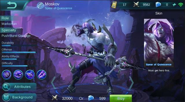 Cara Menggunakan Moskov di Mobile Legends