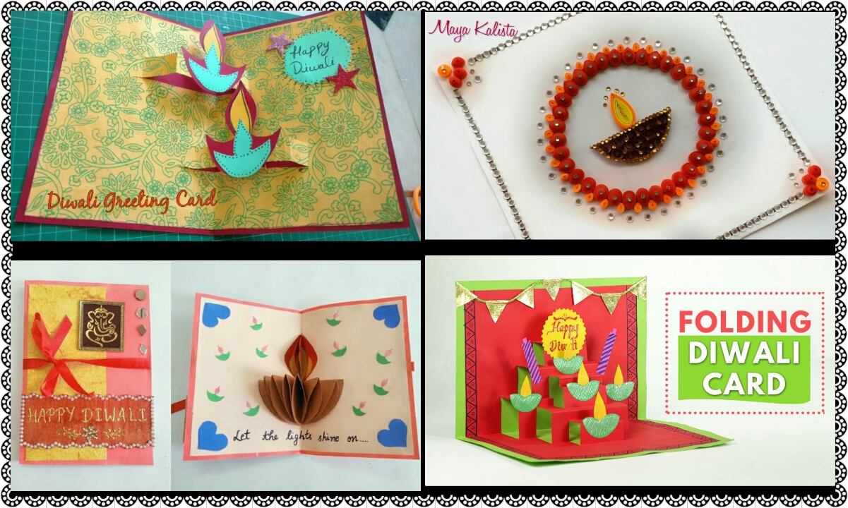 Diwali Greeting Card Making Idea Crazzy Craft