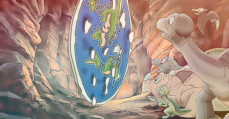 dinozaury i płaska ziemia