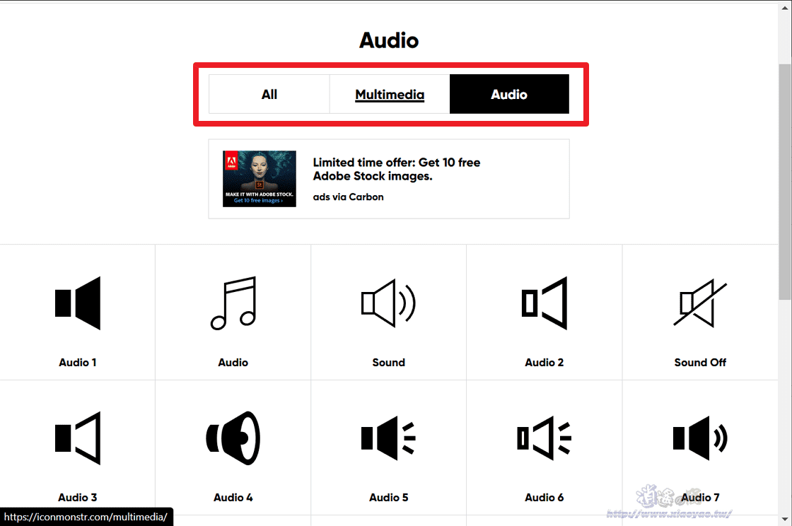 iconmonstr 免費 icon 圖示素材網站