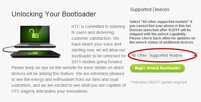 How To Unlock Bootloader HTC One , HTC Desire Devices
