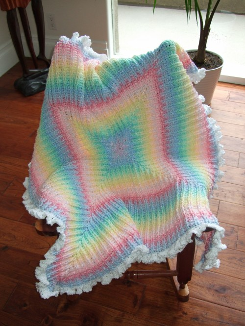 Colors of the Rainbow Blanket - Crochet Pattern