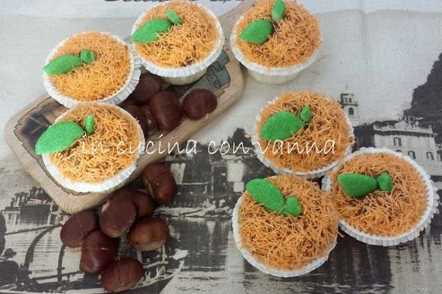 muffin cake-angel con il cuore di  burro di arachidi