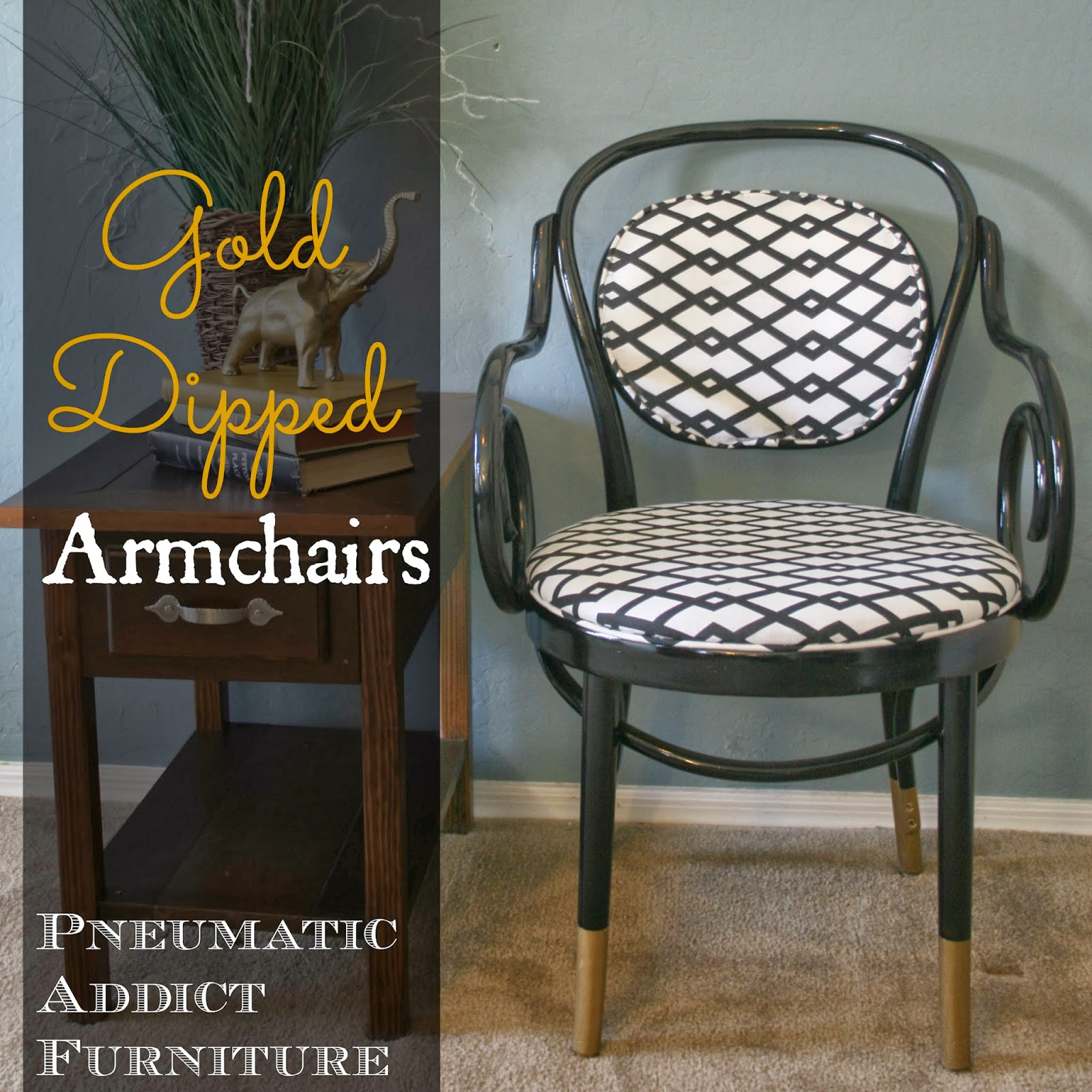 Gold Dipped Armchairs {AKA- The Chairs That Made Me Cry