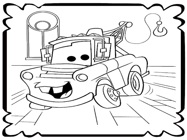 Mater Tow Truck Coloring Pages