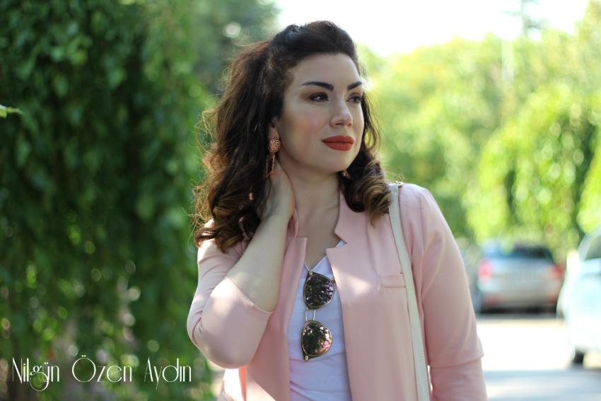 alışveriş-yerli ve yabancı moda blogları-Pembe Pantolon Ceket Takımı-İroni Tekstil