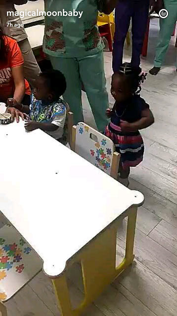 Davido, Tiwa Savage, Peter and Jude Okoye's kids play at school's end of year party