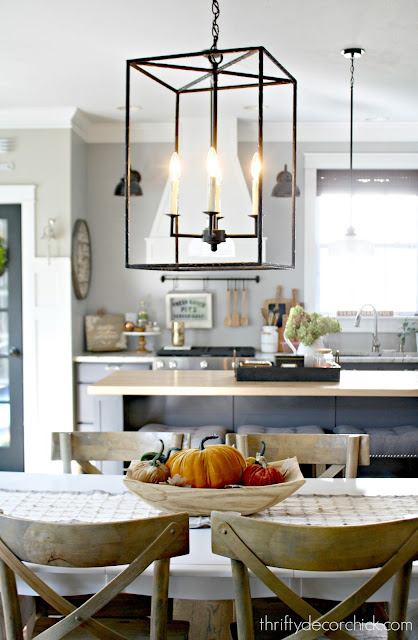 Ballard Designs metal light over table