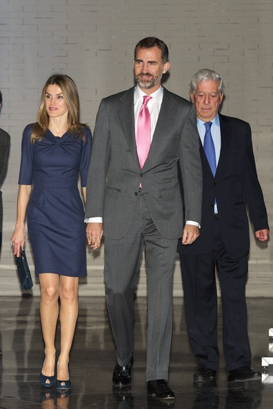 Crown Prince Felipe and Crown Princess Letizia attend the El Canon del Boom literary congress at the Casa de America in Madrid