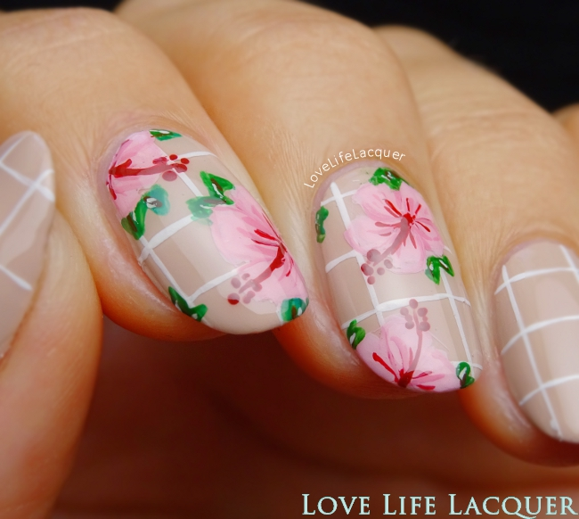 OPI Hawaii Tropical Flower nail art