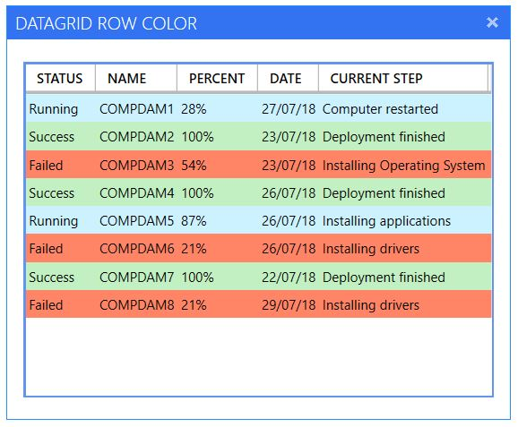 Change datagrid rows color depending of a value - Syst & Deploy