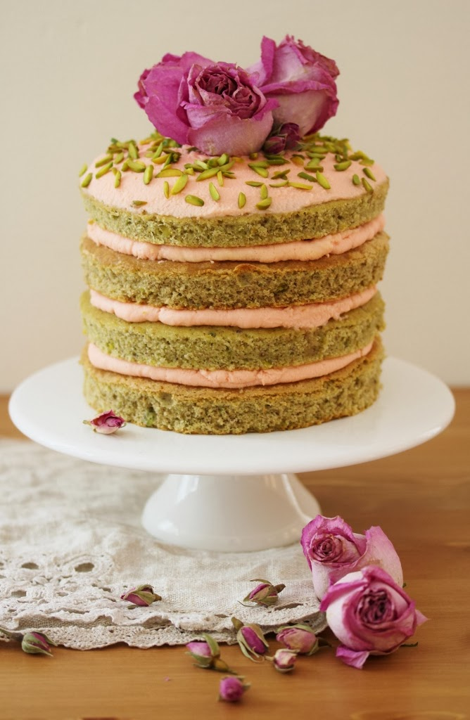 Pistachio Layer Cake with Rose Mascarpone Frosting & 1 ...