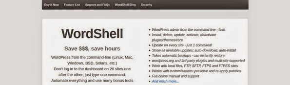 WordShell - CLI tool for WordPress