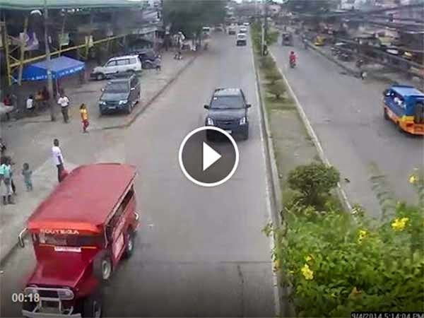CCTv video captures boy hit by multicab in Davao