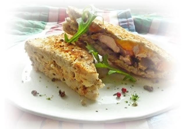 duck and butternut squash toasted sandwich
