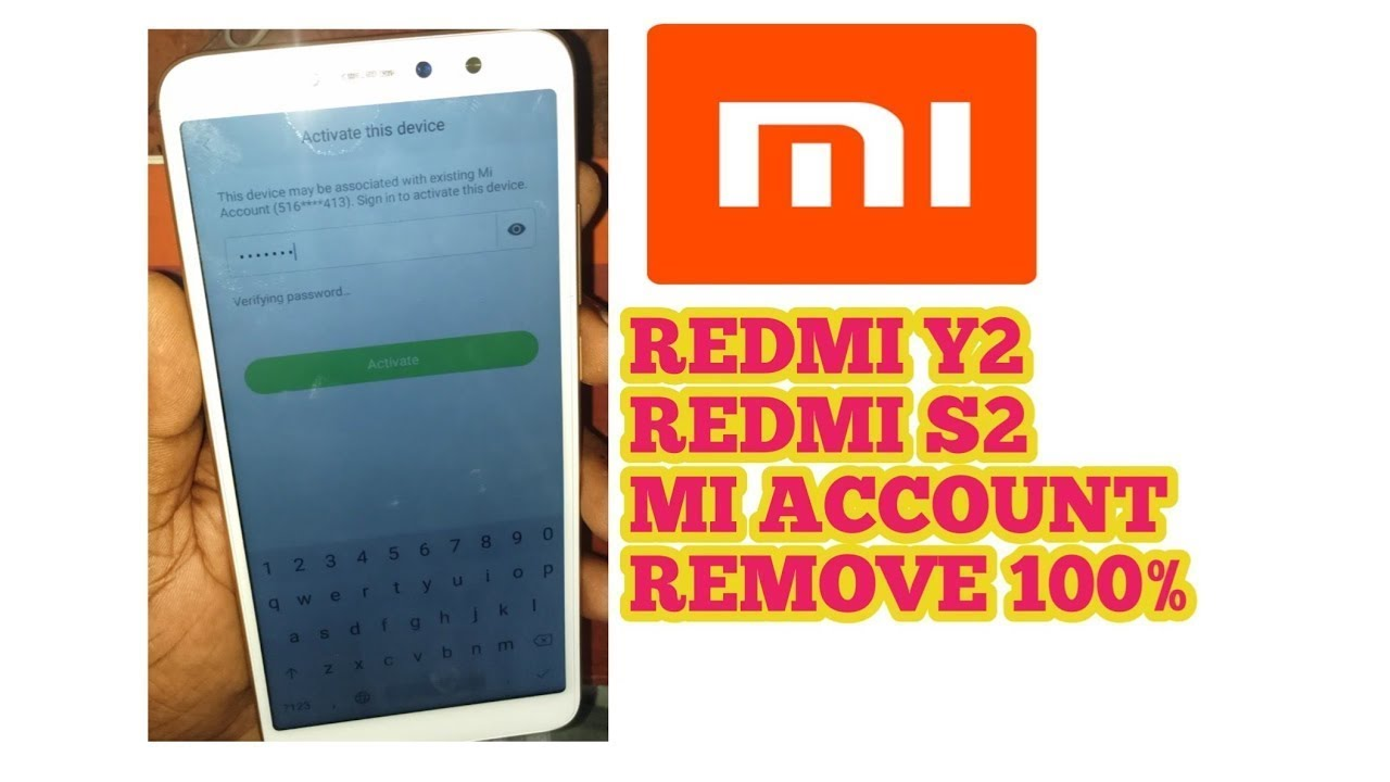 Xiaomi Redmi Y2 S2 Flashing And MI Account Done Without