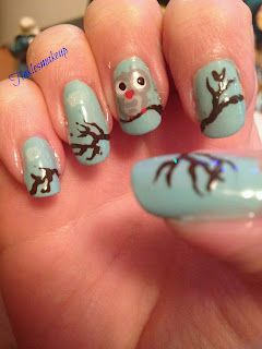 owl_on_a_tree_nail_art