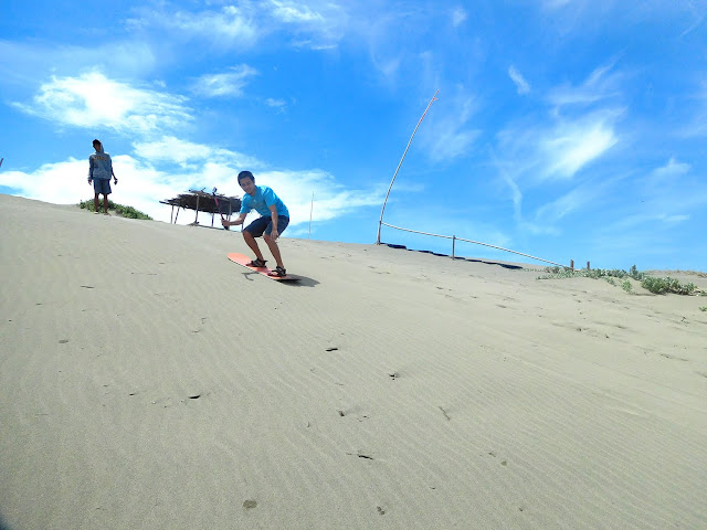 Sandboarding at Sand Dunes Ilocos