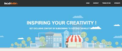 template blog responsive