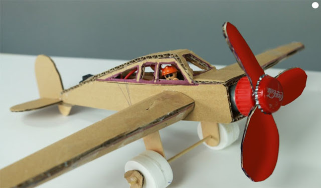 Recycle craft; kids toys made from cardboard