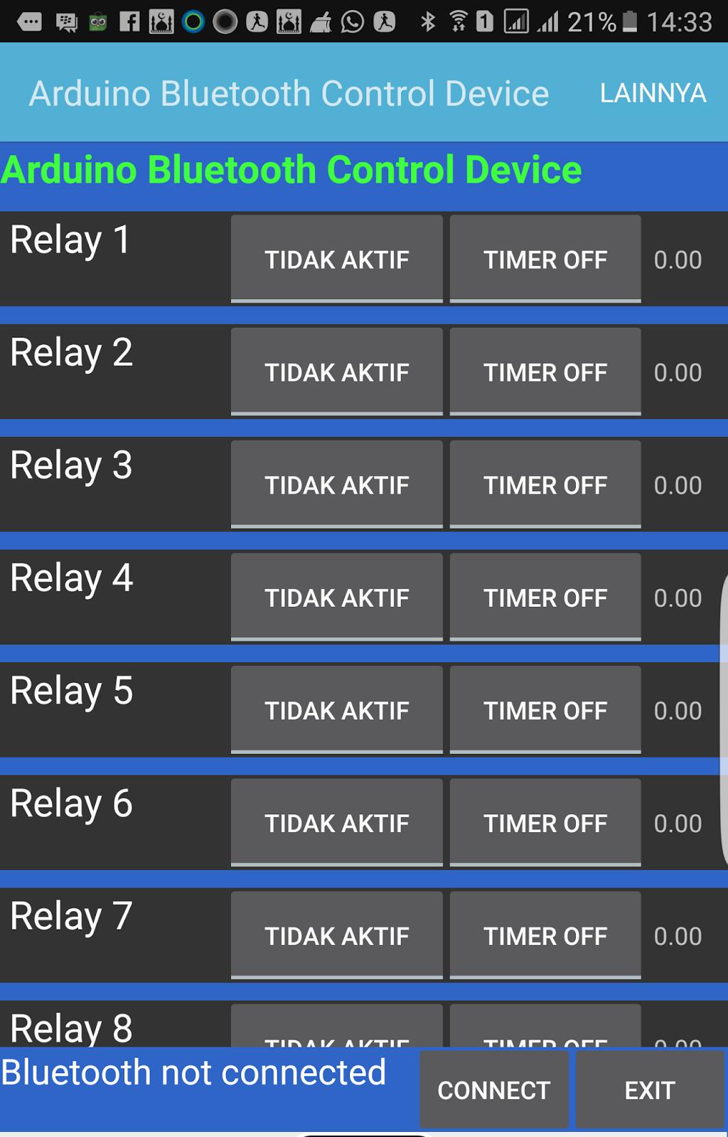 Control 8 Channel Relay With Bluetooth Eeprom Belajar Arduino Rangkaian 5 Pin Berikut Screen Shoot Aplikasinya