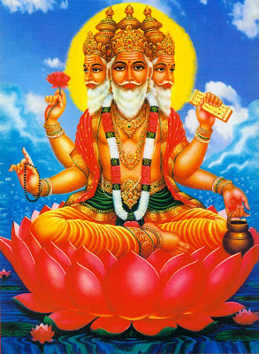Picture of Lord Brahma Hindu God of Creation and one of Trinity Gods