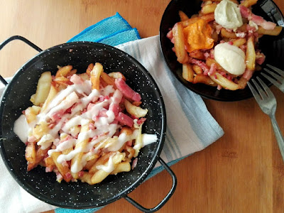cheese fries caseras
