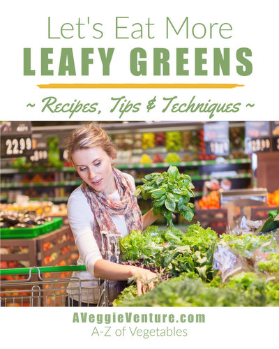 Trying to eat more greens? Tired of the same-old spinach? Find new inspiration in this collection of seasonal recipes for Leafy Greens ♥ AVeggieVenture.com. Savory to sweet, salads to sides, soups to supper, sandwiches to smoothies, simple to special. Many Weight Watchers, vegan, gluten-free, low-carb, paleo, whole30 recipes.