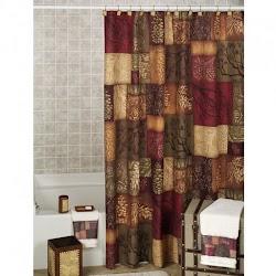Diseño estampado de cortina para baños