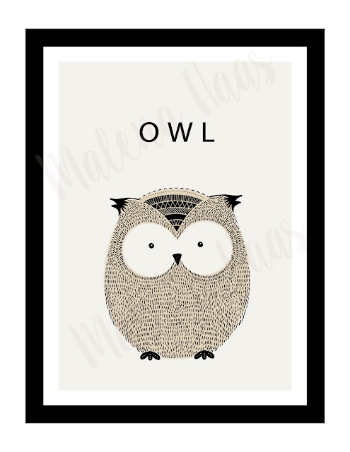 Free Woodland Animal Prints - Owl