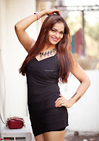 Actress and Model Ashwini in Beautiful Short Black Mini Dress ~  Exclusive 004.jpg