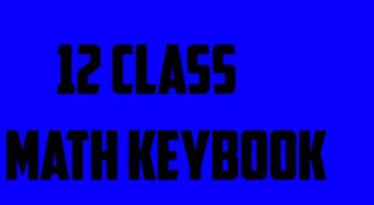 12 class math (2nd year, fsc/ics, part 2, college math,notes