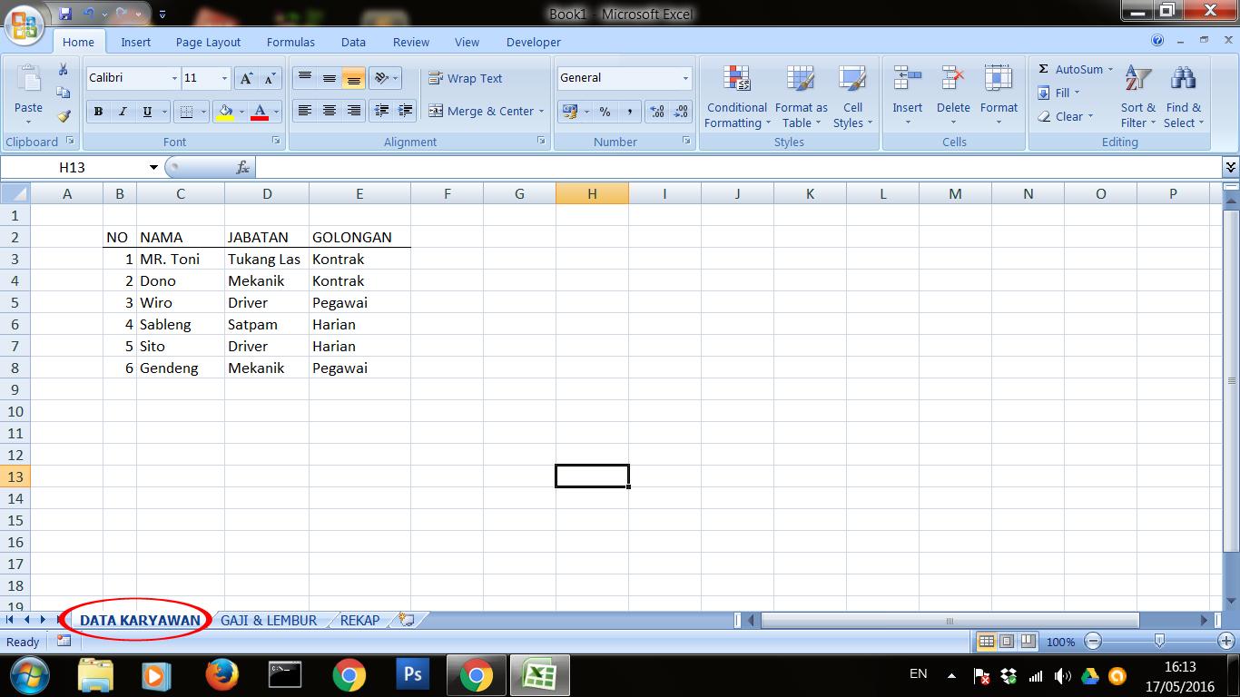 Excel dan Rumus Microsoft Excel: Rumus Excel Antar Sheet