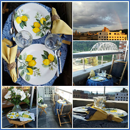 Tete-a-tete Summer Tablescape ont he Balcony