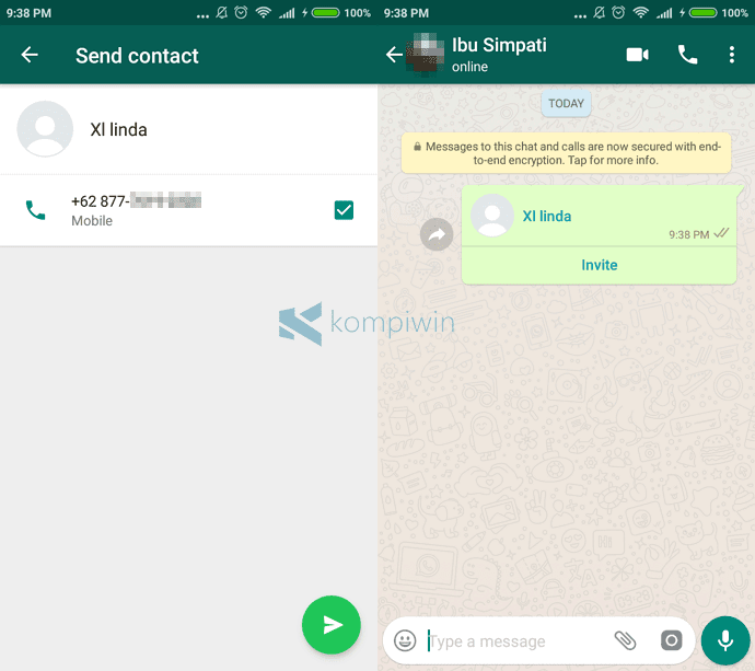 share kontak whatsapp dengan mudah