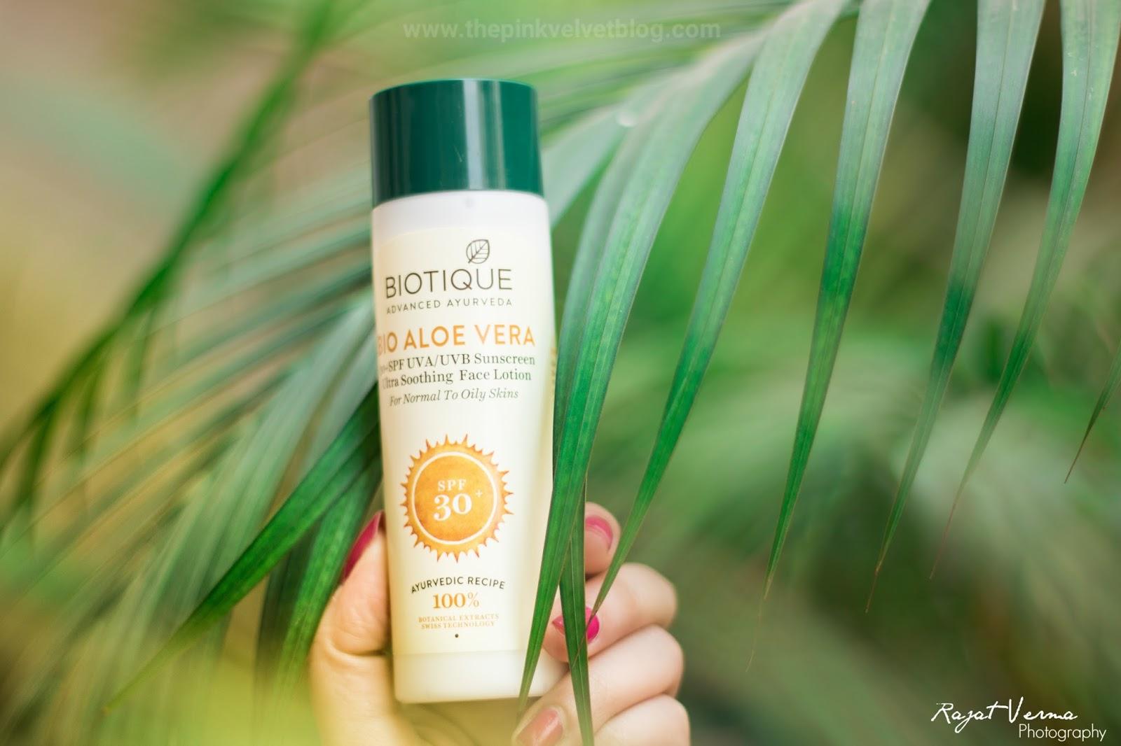 Biotique Aloe Vera Sunscreen SPF 30+ UVA/UVB (For Oily Skin)