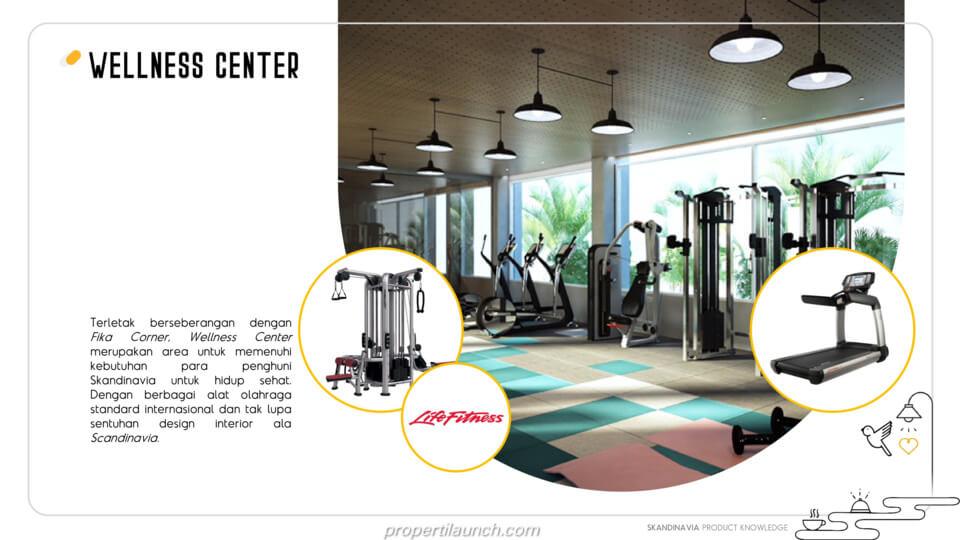 Fitness Centre Apartemen Skandinavia