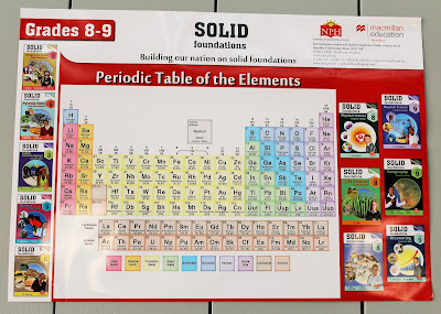 Promotional Poster with Periodic Table of the Elements for Grades 8-9