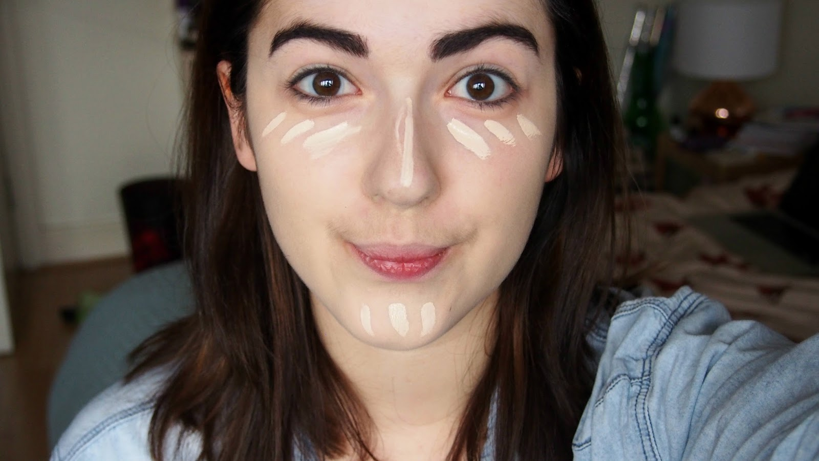 Before photo of concealer