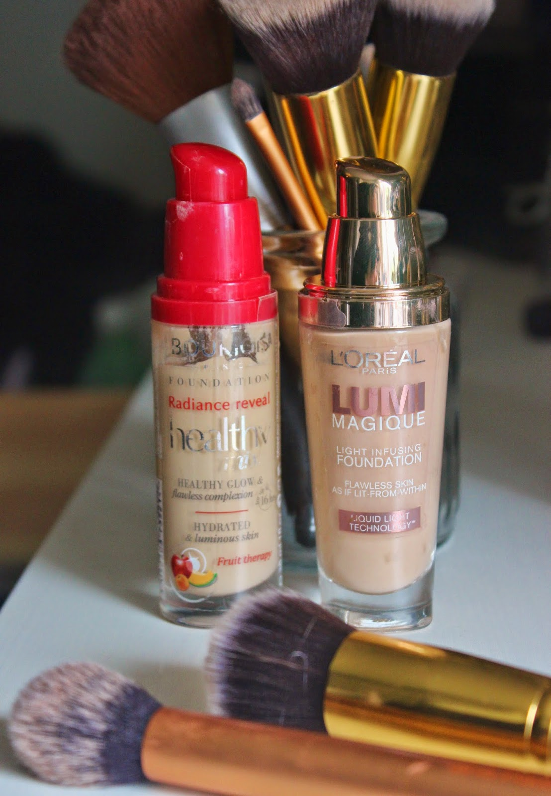 Foundation Collection featuring Bourjois Healthy Mix Foundation