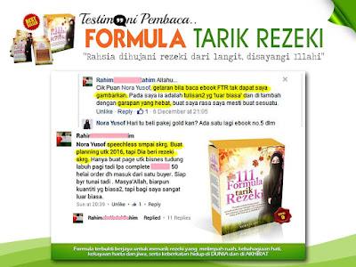 Testimoni Pembaca 111 Formula Tarik Rezeki Yang Menjual Tudung