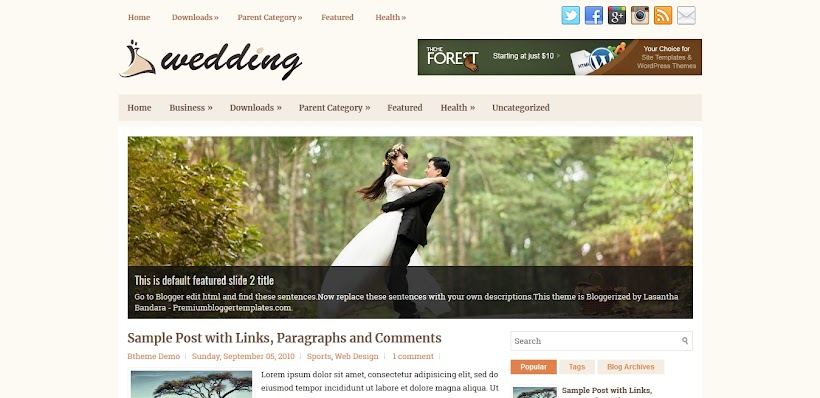 Wedding Free Blogger Template