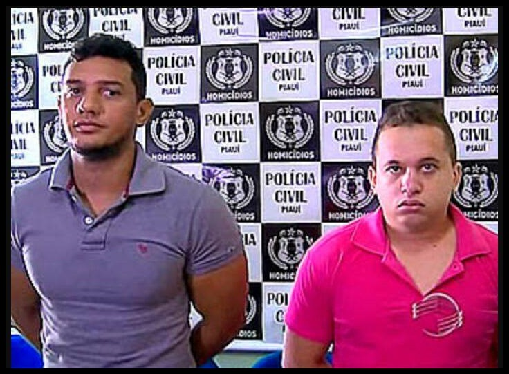 De camisa roxa, Igor de Araújo Lima e seu comparsa, acusados pela polícia  de em 2015 serem os responsáveis pelo assassinato de. Thalyson Mateus  Osório. 512ae4b3da