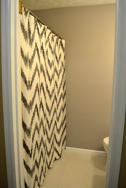 Chevron shower curtain cheap trend but i loved this