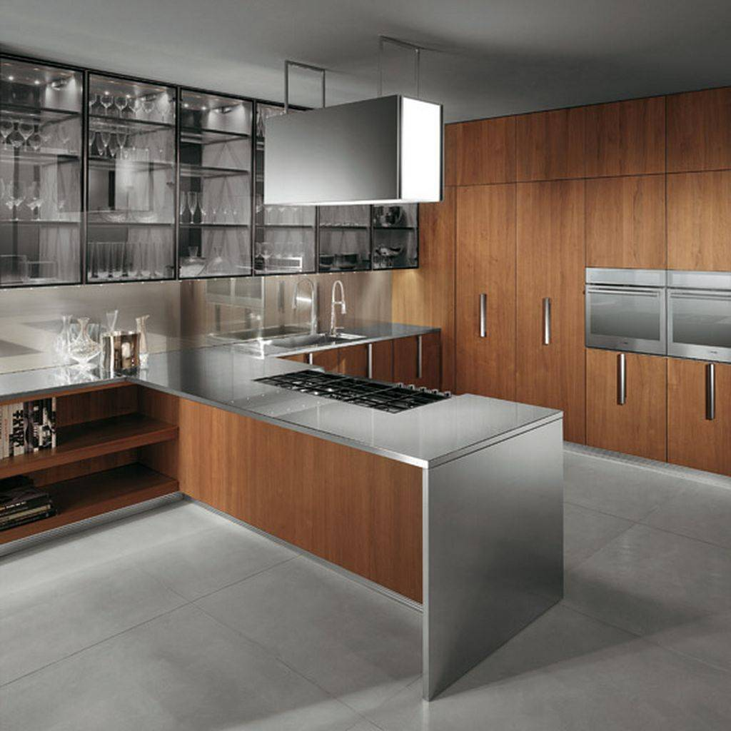 Home Decoration Inspiration: Modern Wood Kitchen Ideas In