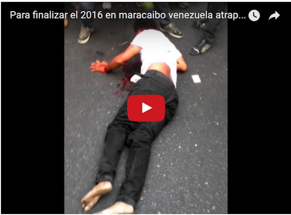 Moto-choro linchado en Maracaibo este 31 de diciembre