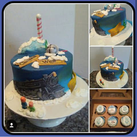 Admirable Cakes By Cindi Schultz All Aboard The Polar Express Funny Birthday Cards Online Elaedamsfinfo