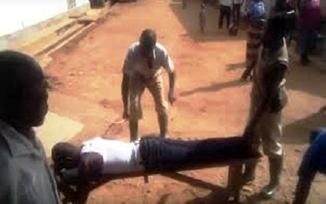 [Watch Video] Prisoners beat prison officer to pulp