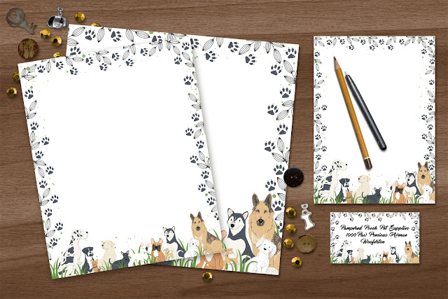 Dog Daze Stationary