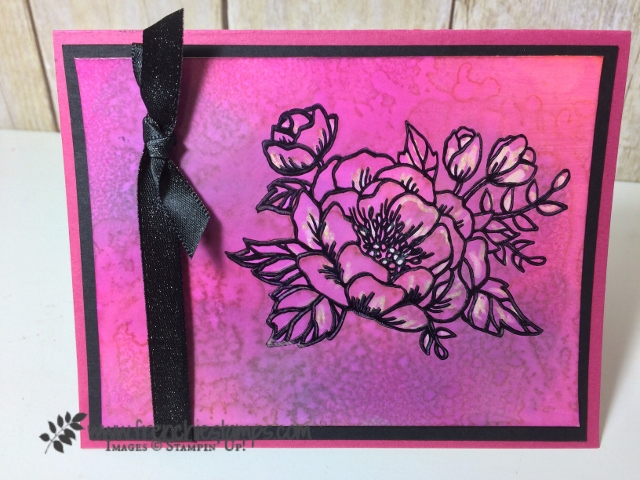 Birthday Blooms, Color Resist with a splash, Glossy Paper, Stamping Technique, Stampin'Up!, Frenchiestamps,